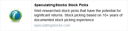 Well-researched stock picks that have the potential for significant returns. Stock picking based on 10+ years of documented stock picking experience.